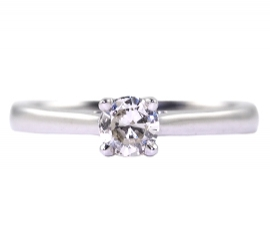 18ct White Gold .23ct Diamond Solitaire