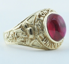 9ct College Ring