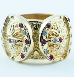 9ct Stone set Buckle Ring