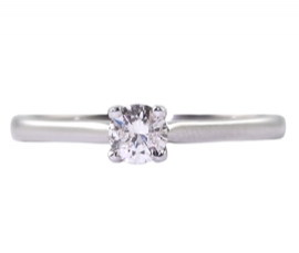 9ct White Gold .10ct Diamond Solitaire