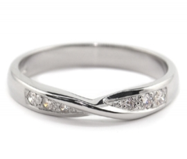 Platinum .10ct Diamond Set Band