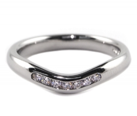 Platinum .13ct Diamond Set Band
