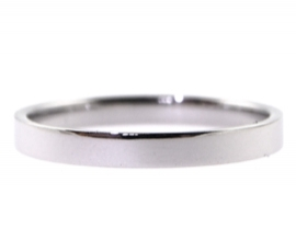 Platinum 2.5mm Flat Band