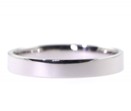 Platinum 3mm Flat Band