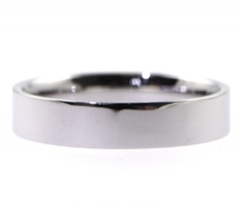 Platinum 4mm Flat Band