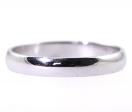 Platinum D Shape 3mm Band