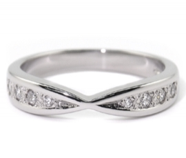 Platinum .14ct Diamond Set Band