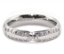 Platinum .23ct Diamond Set Band