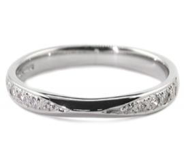 Platinum .15ct Diamond Set Band