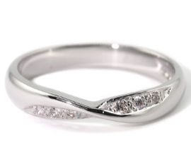 Platinum .9ct Diamond Set Band
