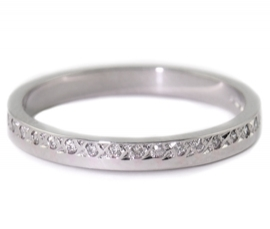 Platinum .12ct Diamond Set Band