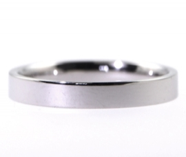 Platinum Heavy Flat 3mm Band