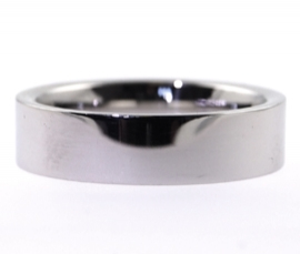Platinum Heavy 5mm Flat Band