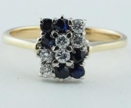 Sapphire & Diamond 18ct Ring