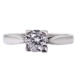 .33ct Starlight Set 4 Claw Solitaire
