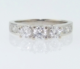 .50ct Trilogy with Diamond Set Soulders