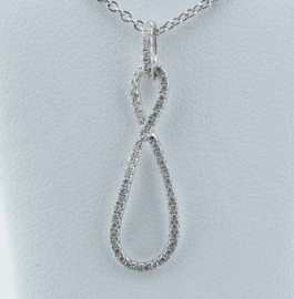 14ct Diamond Set Loop Pendant