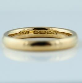 18ct 3mm Wedding Band