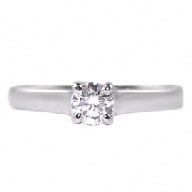 18ct Contemporary Four Claw Solitaire