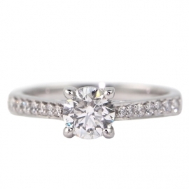 18ct White Gold .64ct Diamond Ring