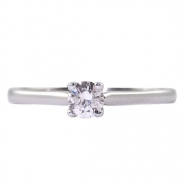 18ct White Gold .15ct Diamond Solitaire