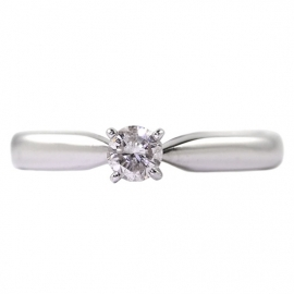 18ct White Gold .12ct Diamond Solitaire