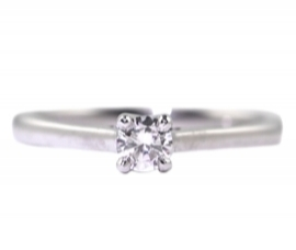 18ct White Gold Solitaire