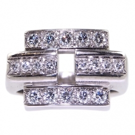18ct White Gold .50ct Diamond Ring