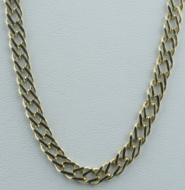 """9ct 24"""" Double Curb Chain"""