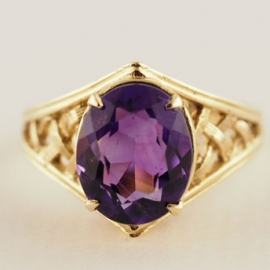 9ct Amethyst Ring