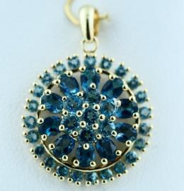 9ct Blue Topaz Pendant