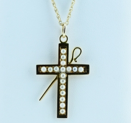 9ct Cross & Chain
