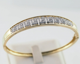 9ct Diamond Bangle