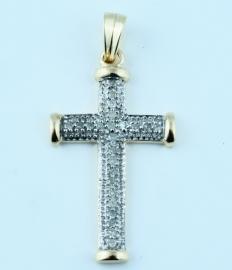 9ct Diamond Set Cross