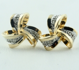 9ct Diamond set Studs