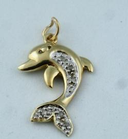 9ct Dolphin Pendant