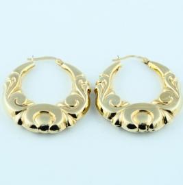 9ct Embossed Earrings