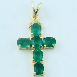 9ct Emerald Cross