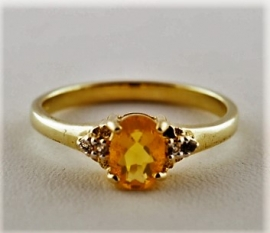 9ct Fire Opal Ring