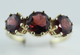 9ct Garnet Three Stone