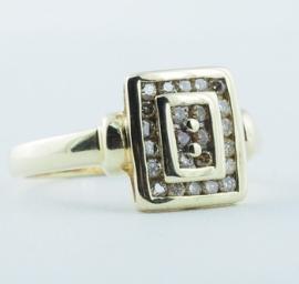 9ct Gold Diamond Cluster