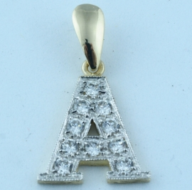 9ct Gold Initial  'A'