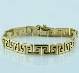 9ct Greek Keynote Design Bracelet