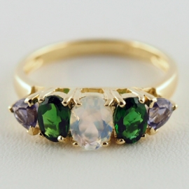 9ct Multi Gem Ring