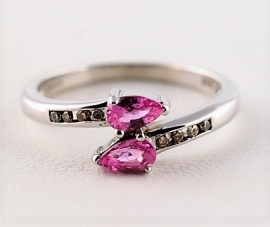 9ct Pink Sapphire Ring