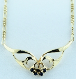 9ct Sapphire Necklace