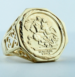 9ct St. George Ring