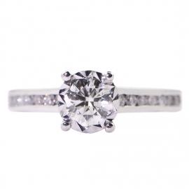 9ct White Gold .45ct Starlight Ring