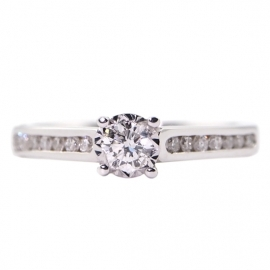9ct White Gold Solitaire
