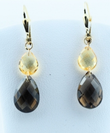 Citrine & Smokey Quartz Drops